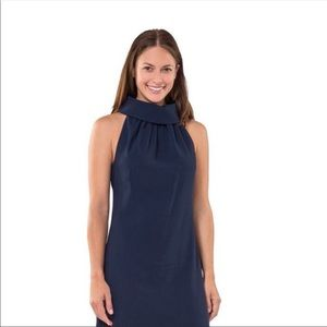 Sail to Sable Navy cowl neck dress- sold out